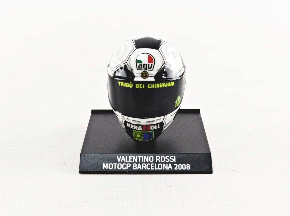 ma/ßstab 1//10 Minichamps 315080086 Helm Valentino Rossi Motogp Barcellona 2008 Sammlerst/ück Miniatur