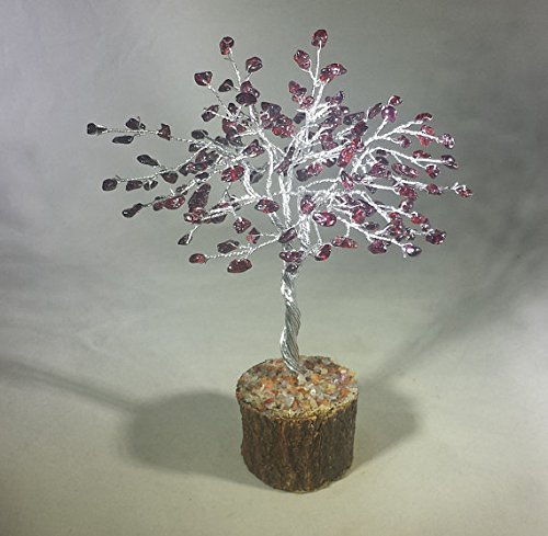 [A&S Crystals] Natural GARNET Gemstone Chip Tree With 150 Stones Crystal Tree Of Life ()