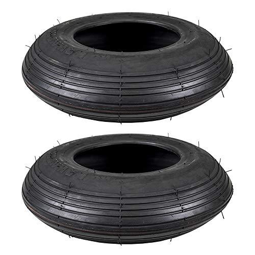 Stens 2 Kenda Tire 4.80x4.00-8 Rib Tread 2 Ply Tube Type Lawn Mower Golf Go Cart ATV, 5134511 2 Ply Rib Tread