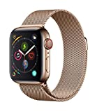 Apple Watch Series 4 (GPS + Cellular, 40mm) - Gold Stainless Steel Case with Gold Milanese Loop