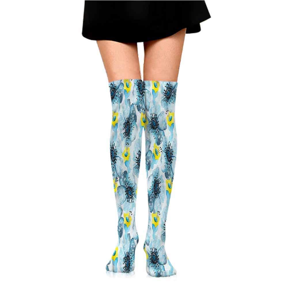 lot Happy Colorful Socks Men Watercolor Flower,Soft Color Flora,socks men pack dress