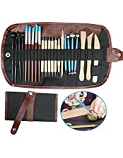 24 in 1 Pottery & Clay Sculpting Tools with Assorted Shape Size DIY Clay Modeling Tool Set for Kids