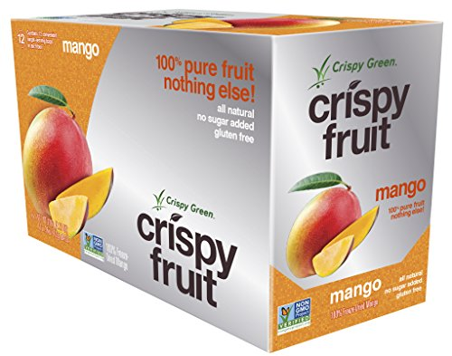 Crispy Green 100% All Natural Freeze-Dried Fruits, Mango, 0.36 Ounce (12 Count)