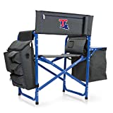 NCAA Louisiana Tech Digital Print Fusion Chair, Dark Grey/Blue, One Size