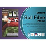 Love2Sleep PAIR OF PILLOWS: SUPERIOR BALL FIBRE FILLING WITH 233TC PURE COMBED COTTON COVER : 2 PILLOWS by LOVE2SLEEP