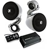Kicker 40PXiBT502 Bluetooth amplifier/receiver and 3 2 ohm 40PSM32 handlebar mounted speakers