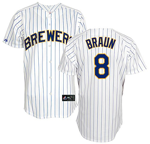 Majestic Ryan Braun Milwaukee Brewers Men's Alternate Home Replica Jersey - Size 2X (Jersey Ryan Replica)