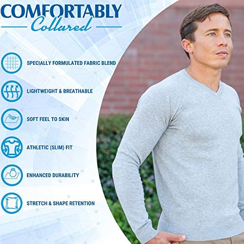 Hommes See-through Mince Slim Fit V-Neck Basic Sweats Pull Jumper Jacket Top S//M