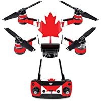 Skin for DJI Spark Mini Drone Combo - Canadian Flag| MightySkins Protective, Durable, and Unique Vinyl Decal wrap cover | Easy To Apply, Remove, and Change Styles | Made in the USA