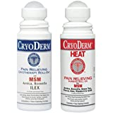 Cryoderm Cold & Heat Pain Relieving Gel Roll-on - 3 Ounce, Set of 2