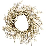 White Berry and Branches Wreath 18 Inches Fall Autumn Harvest Winter Farmhouse