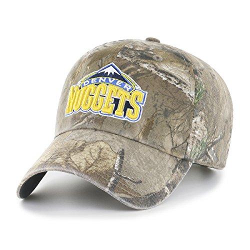 NBA Denver Nuggets Realtree OTS Challenger Adjustable Hat, Realtree Camo, One Size Denver Nuggets Brown Basketball