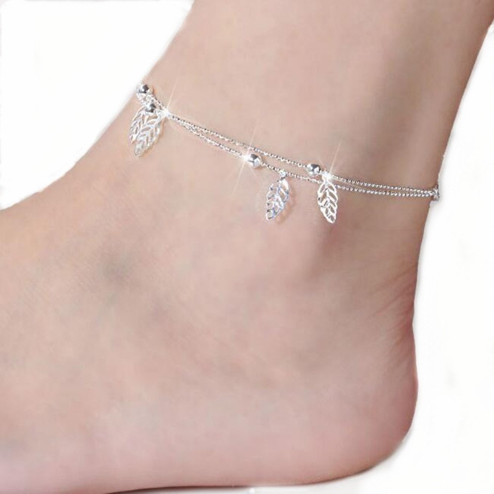 e7037c1ee Amazon.com  Burning Love Anklet Leaves style Ankle chains No fading foot  chains Female fashion jewelry Size 10.04