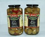 Mezzetta Napa Valley Bistro Garlic stuffed Olives 32 fl oz -Double pack