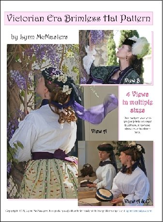 Steampunk Sewing Patterns- Dresses, Coats, Plus Sizes, Men's Patterns Victorian Brimless Hat Pattern $13.95 AT vintagedancer.com