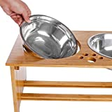 FOREYY Raised Pet Bowls for Medium and Large