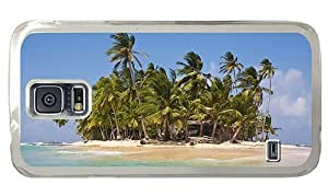 Hipster Samsung Galaxy S5 Case mate cover Tropical Palm Island PC Transparent for Samsung S5