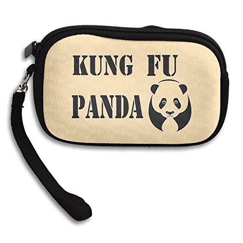 Claudia Fashion Women Girl Zipper Cute Purse Martial Arts Hero Panda Card Holder Mini Handbag