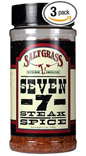 Saltgrass Seven - 7 - Steak Spice 12oz Container (Pack of 3)