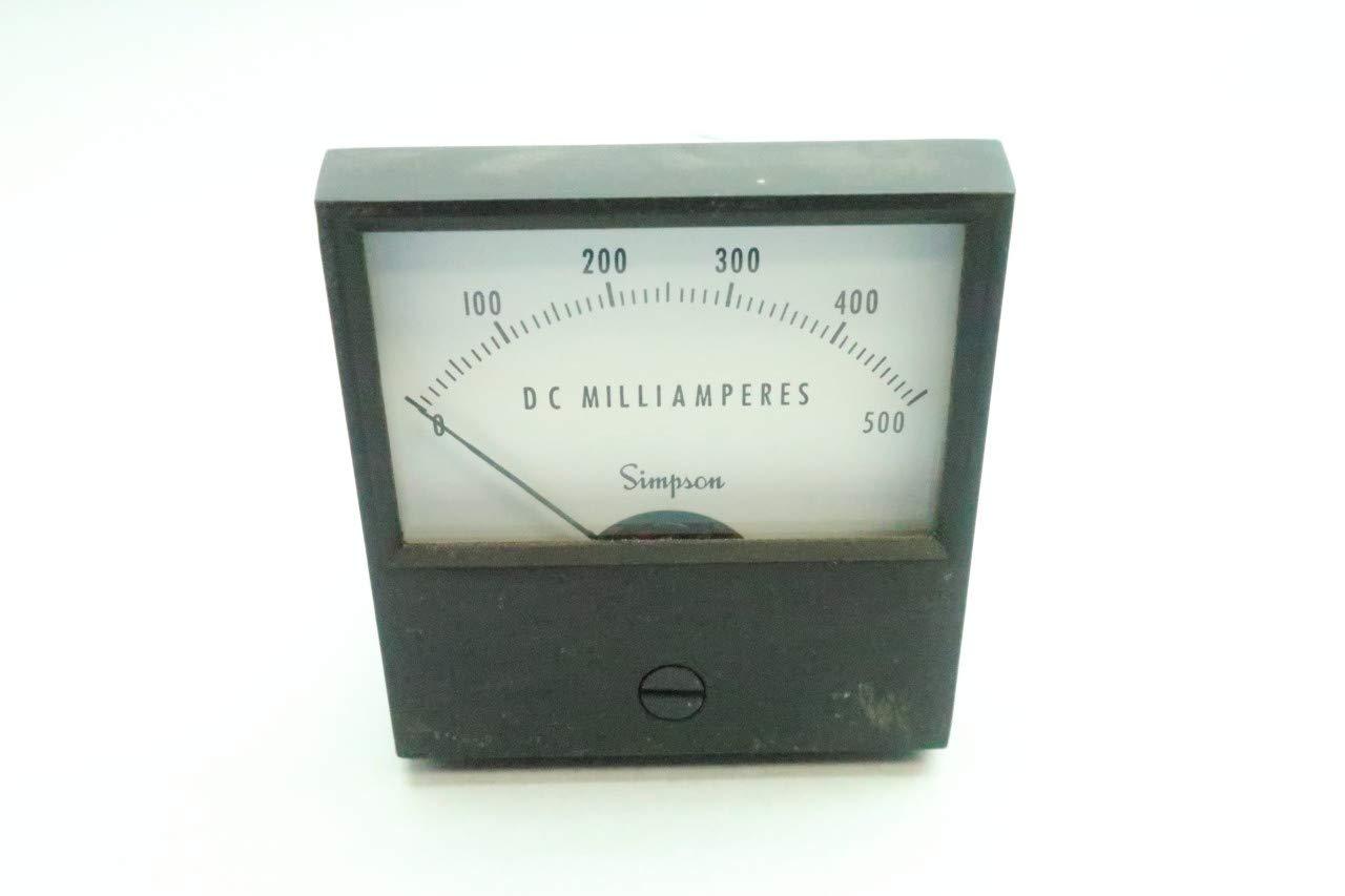 SIMPSON SM 2122 Ammeter 0-500DC MILLIAMPERES