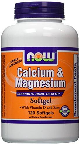 NOW Foods Calcium/Magnesium Plus Vitamin D and Zinc, 120 Softgels (Calcium Vitamin D Magnesium)