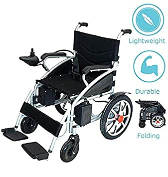 Alton Medical Electric Wheelchair, Fold Folding Foldable Lightweight Power Wheel Chair, Heavy Duty Electric
