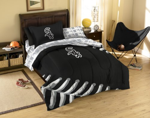 MLB Chicago White Sox Bedding Set, Twin (Sox Twin Sheet Set)