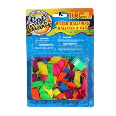 H2O Blasters Water Balloons, 100-ct. Packs (Assorted Colors): Toys & Games