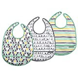 : JJ Cole Bib Set, 50 Shapes of Grey