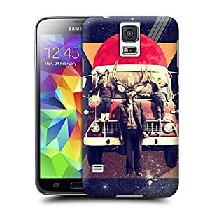 Unique Phone Case Collage art Bus and Antelopes Hard Cover for samsung galaxy s5 cases-buythecase by heywan