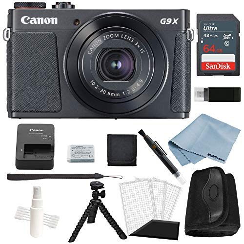 Canon G9x Mark II Digital Camera Bundle (Black) + Canon PowerShot G9 x Mark II Deluxe Accessory Kit – Including EVERYTHING You Need To Get Started