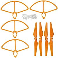 UUMART DJI Phantom 4 RC Quadcopter Spare Parts 4 Propellers And 4 Prop Guards-Orange