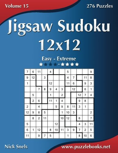 Download Jigsaw Sudoku 12x12 - Easy to Extreme - Volume 15 - 276 Puzzles pdf