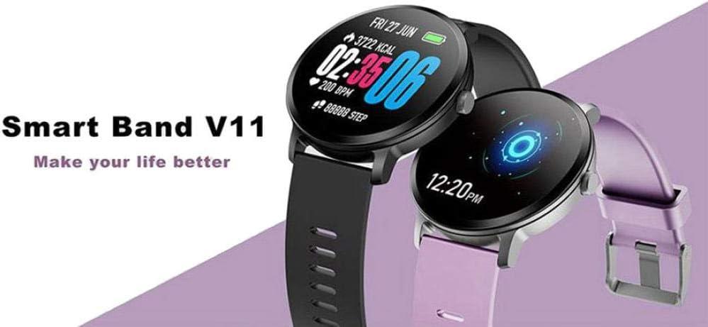 Montre météo Intelligente IWlT Color Weather IP67 Montre de Surveillance de la fréquence Cardiaque du Moniteur de fréquence Cardiaque SmartWatch, Gris Violet