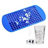 TraderPlus Silicone 160 Mini Ice Cube Trays and Candy Molds (Blue)