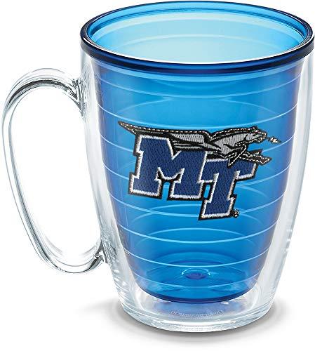 Tervis 1192205 Middle Tennessee State University Emblem Individual Mug, 16 oz, ()