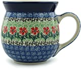 Polish Pottery Bubble Mug 16 oz Maraschino