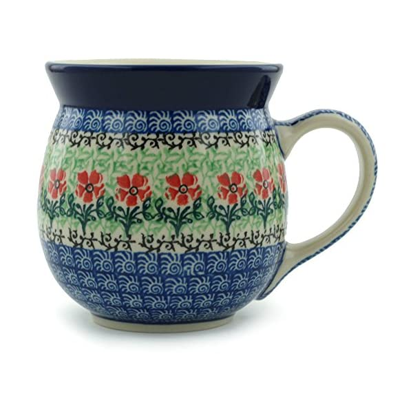 Polish Pottery Bubble Mug 16 oz Maraschino