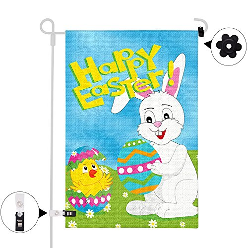 KUUQA Easter Garden Flag Double Sided Decorative Cute Chick