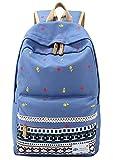 Santimon Unisex Causal Lightweight Canvas Laptop Bag Cute Backpacks Shoulder Bag School Travel Outdoor