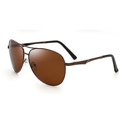 Gafas de Sol polarizadas de los Hombres Retro Protección UV Gafas de Sol Deportivas Gafas de