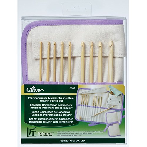 Clover Takumi Bamboo Interchangeable Tunisian Crochet Hook Set by Clover (Image #6)