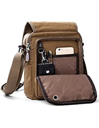 Mens Bag Messenger Bag Canvas Shoulder Bags Travel Bag Man Purse Crossbody  Bags for Work Business 4cfbe993d8