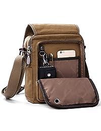 XINCADA Messenger Bags Mens Crossbody Bag Canvas Bags Small Shoulder Travel Bag for Men