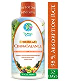 Cinnabalance – Liquid Cinnamon Supplement w/ Cinnamon Bark, Aloe Vera, Ginger Root, Green Tea & Antioxidants – Promotes healthy blood sugar support & glucose levels – 32 oz, 32 servings