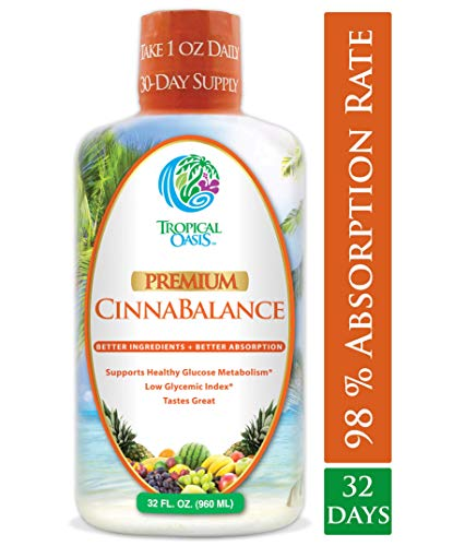 Cinnabalance – Liquid Cinnamon Supplement w/ Cinnamon Bark, Aloe Vera, Ginger Root, Green Tea & Antioxidants – Promotes healthy blood sugar support & glucose levels – 32 oz, 32 servings For Sale