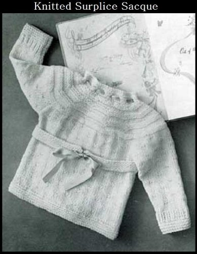 KNITTED SURPLICE SACQUE SWEATER - Vintage Baby / Toddler Sweater Knitting Pattern (ePattern) - Instant Download Kindle Ebook - AVAILABLE FOR DOWNLOAD to ... babies; baby clothes; baby patterns)