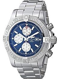 Men's BTA1337111-C871SS Super Avenger II Analog Display Swiss Automatic Silver Watch