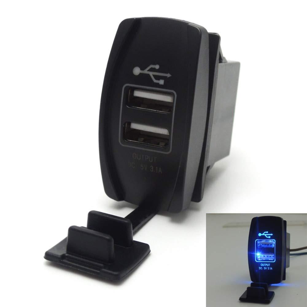 Blue Rocker Switch Backlit LED Light Bar For UTV Polaris RZR XP 900 1000 Ranger