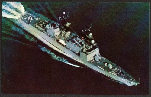 U S S Spruance Destroyer DD-963 postcard ()